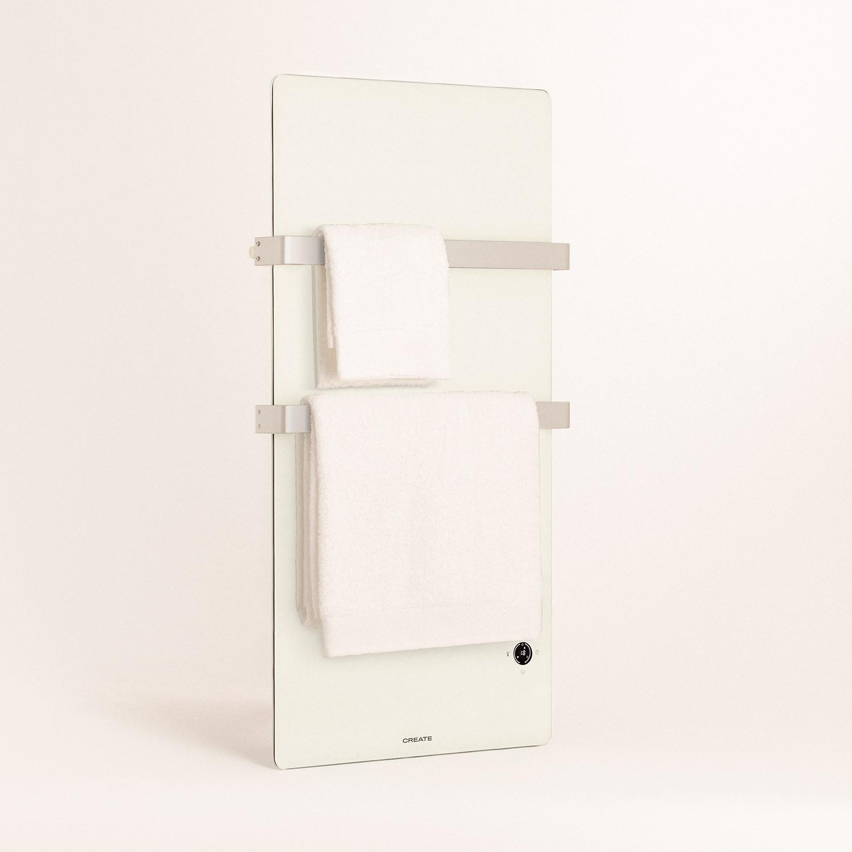 WARM TOWEL CRYSTAL Elektrischer Handtuchhalter aus Glas