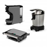 Comprar BREAKFAST Pack - Sandwichera Stone Grill 1500 + Cafetera Multicápsulas Potts gris + Exprimidor Eléctrico Zumik