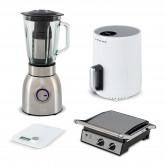 Comprar PRO HEALTH Pack - Batidora Licuadora de Jarra KRUM PRO + Tostadora STONE GRILL PRO + Báscula de Cocina PONDUS WHITE + Freidora