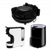 Comprar Pack - VULCANO horno eléctrico + IKOFRY HEALTHY TOUCH freidora sin aceite + POTTS cafetera multicápsulas