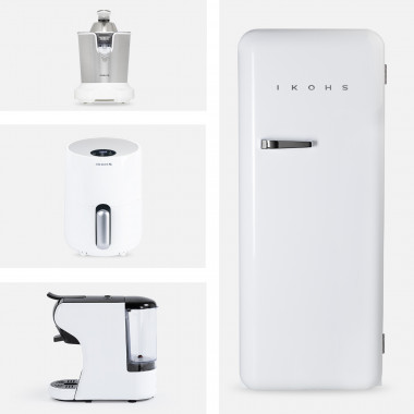 Comprar Pack - Exprimidor JUICER PRO + Cafetera POTTS + Freidora IKOFRY HEALTHY TOUCH+ Nevera RETRO FRIDGE 150