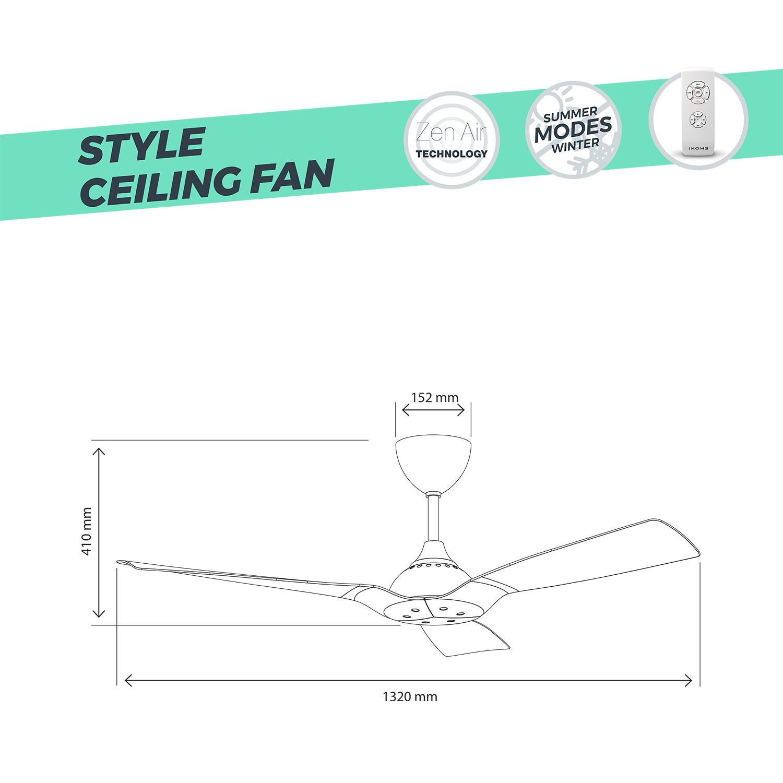 style dc ventilateur de plafond ultra silencieux ikohs. Black Bedroom Furniture Sets. Home Design Ideas