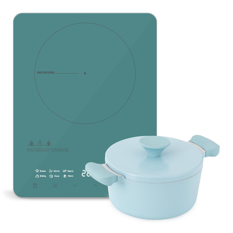 Comment Differencier Induction Et Vitroceramique pack cuisine portable - casserole uma / poêle noa + pro-pirax plaque  vitrocéramique à induction