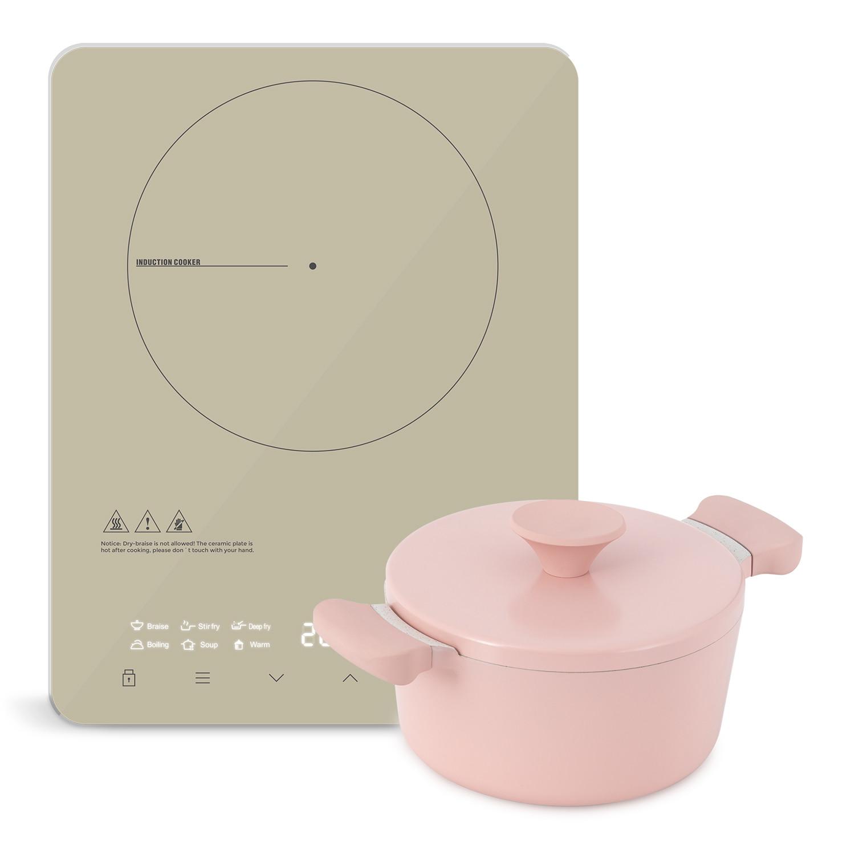 Comment Differencier Induction Et Vitroceramique pack cuisine portable - noa poêle Ø24cm + plaque à induction pro-pirax