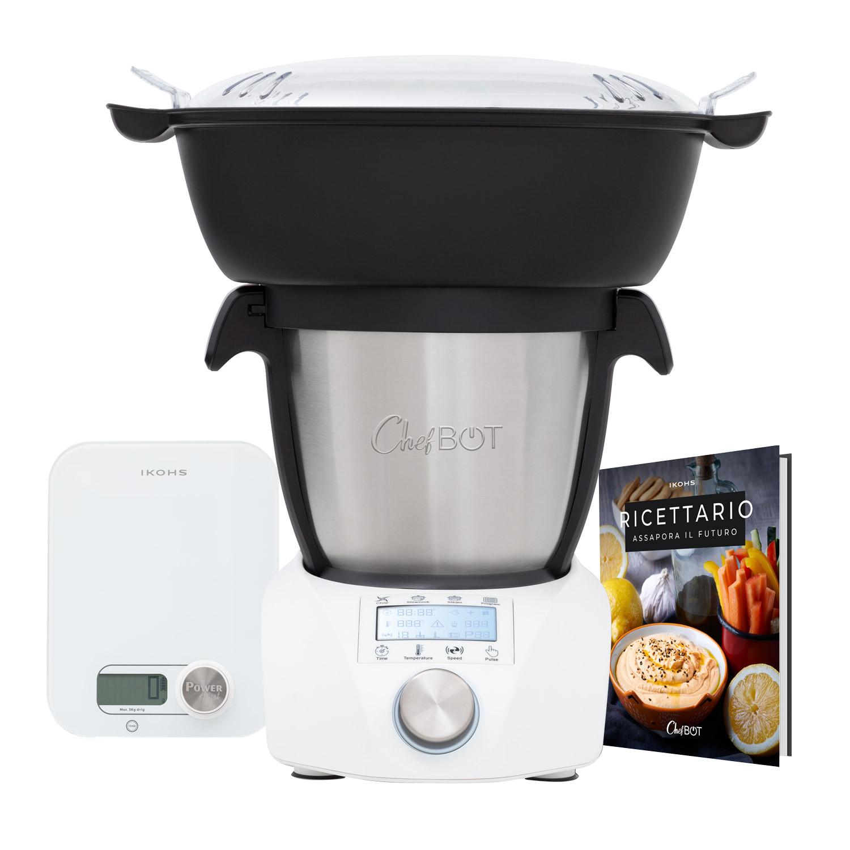 Chefbot COMPACT STEAMPRO + Ricettario + Cestello Vapore + Pondus