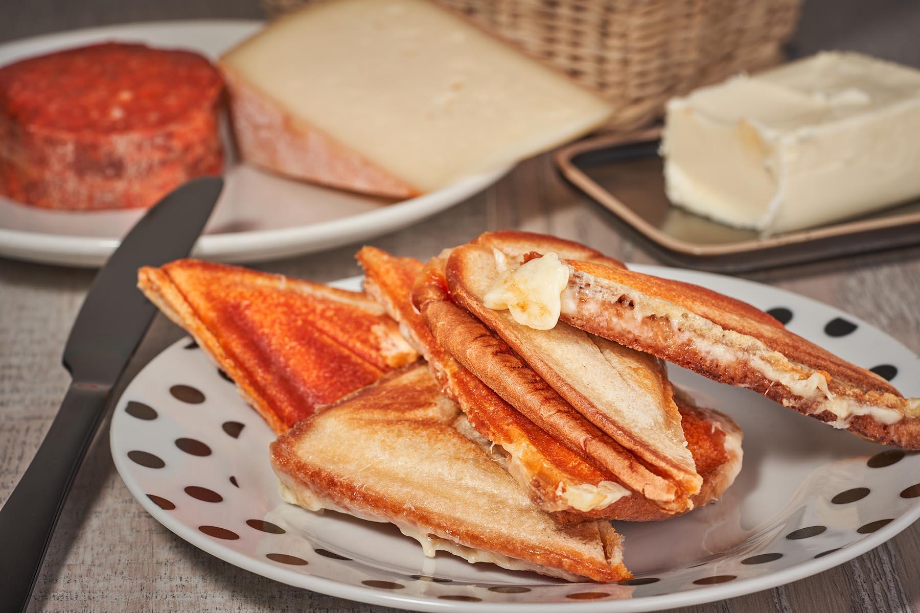 sandwich, camembert, miel